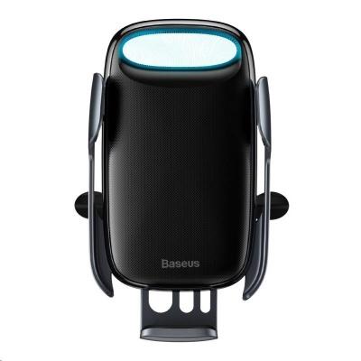 Baseus Milky Way držák do automobilu s funkcí bezdrátového nabíjení QI 15W (do ventilační mřížky), černá