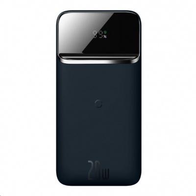 Baseus PowerBanka s bezdrátovým nabíjením 10000 mAh modrá (kompatibilní s Apple iPhone 12 Series)