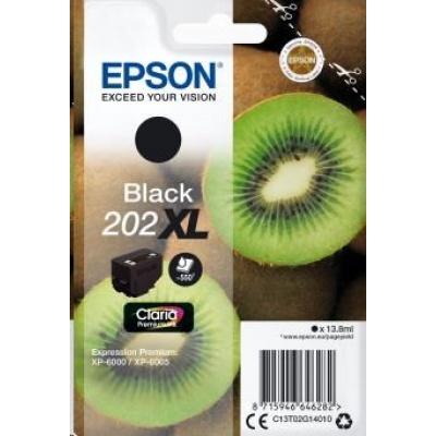 "EPSON ink čer Singlepack ""Kiwi"" Black 202XL Claria Premium Ink 13,8 ml"