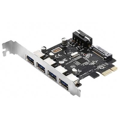 EVOLVEO 4x USB 3.2 Gen 1 PCIe, rozšiřující karta