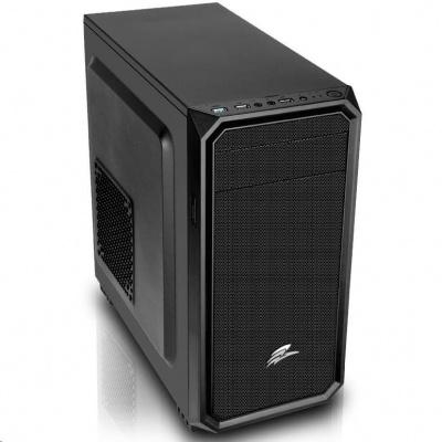 EVOLVEO Shaw 2, case mATX, 1x 120 mm ventilátor, přední mesh panel, prachový filtr, bez zdroje, černá
