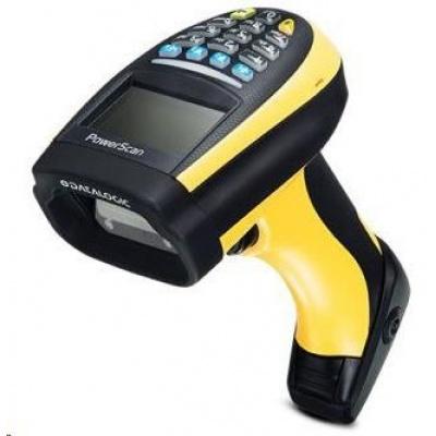 Datalogic PM9100, 1D, multi-IF, disp., RB, black, žlutá