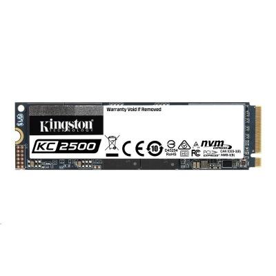 Kingston 250GB SSD disk PCIe KC2500 - M.2 2280 version NVMe