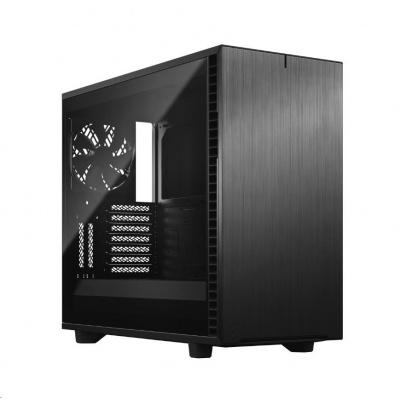 FRACTAL DESIGN skříň Define 7 Dark Tempered Glass Midi Tower, černá, bez zdroje