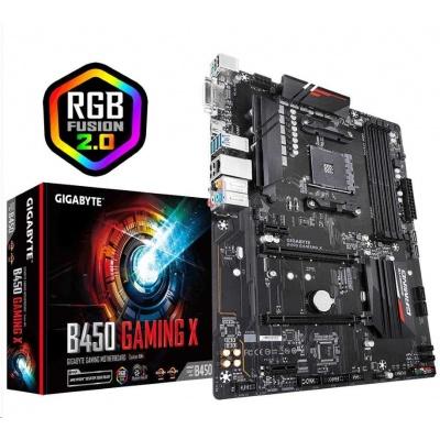 BAZAR GIGABYTE MB Sc AM4 B450 GAMING X, AMD B450, 4xDDR4, VGA, ATX - po opravě (bez přisl.)