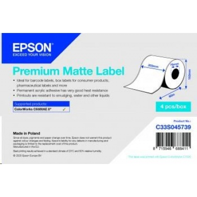 Epson label roll, normal paper