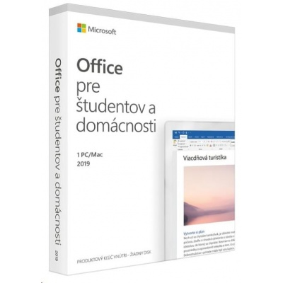 Microsoft Office Home and Student 2019 SK (pro domácnosti)
