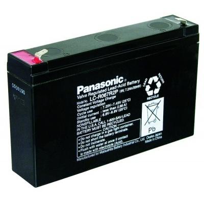 Baterie - Panasonic LC-R067R2P (6V/7,2Ah - Faston 187), životnost 6-9let