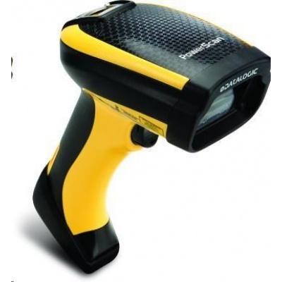 Datalogic PowerScan PD9330, 1D, AR, multi-IF, kit (USB), black, žlutá