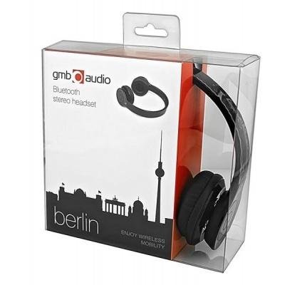 "BAZAR GEMBIRD sluchátka s mikrofonem Berlin, Bluetooth, černá ""REPAIRED"""