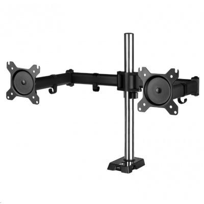 """ARCTIC stolní držák Z2 (Gen3) pro 2x LCD do 34"""", nosnost 2x15kg, 4x USB HUB, černý (black)"""