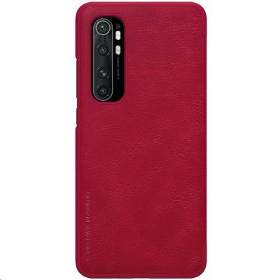 Nillkin Qin Leather Case pro Xiaomi Mi Note 10 Lite Red