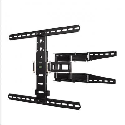 Hama nástenný držiak TV, pohyblivý, 700x500, 5*, čierny