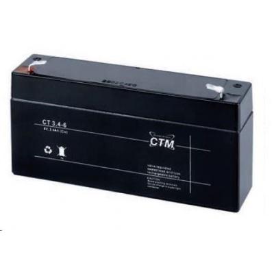 Baterie - CTM CT 6-3,4 (6V/3,4Ah - Faston 187), životnost 5let