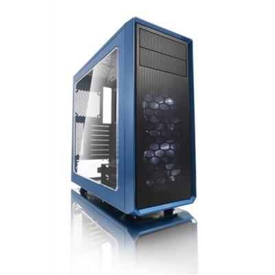 FRACTAL DESIGN skříň FOCUS G, Midi Tower, průhledný bok, Blue, bez zdroje