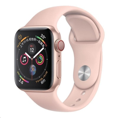 COTEetCI silikonový sportovní náramek pro Apple watch 38 / 40 mm růžový