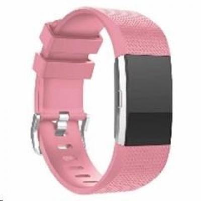 eses silikonový řemínek růžový velikost S pro Fitbit Charge 2