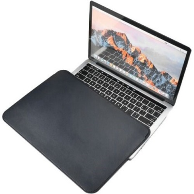 COTEetCI PU Ultra-thin Cases for MacBook 16 Black