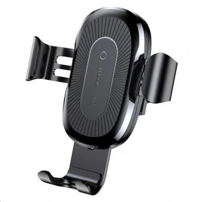 Baseus Gravity držák a bezdrátová nabíječka do auta 10W (do ventilační mřížky), černá