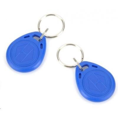 ESES klíčenka RFID, 13,56 MHz modrý, vyražené číslo, 100-pack