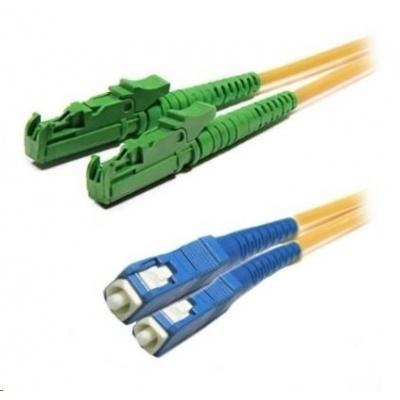 Duplexní patch kabel SM 9/125, OS2, E2000(APC)-SC(PC), LS0H, 1m