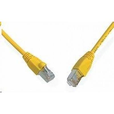 Solarix Patch kabel CAT5E SFTP PVC 20m žlutý snag-proof C5E-315YE-20MB