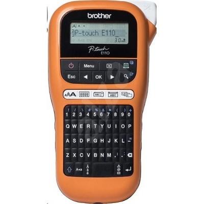BROTHER tiskárna štítků PT-E110VP - 12mm, pásky TZe - popisovač - pro elektrikáře - s kufrem