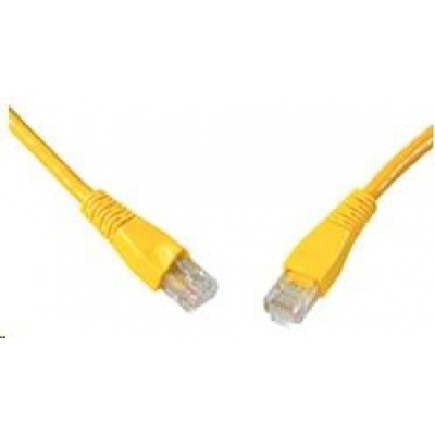 Solarix Patch kabel CAT6 UTP PVC 10m žlutý snag-proof C6-114YE-10MB