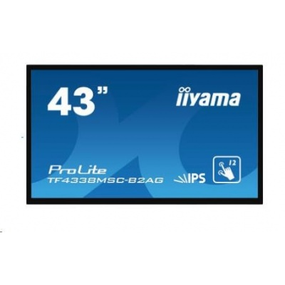 Iiyama dotykový monitor ProLite TF4338MSC-B1AG, Projected Capacitive, 12 TP, Full HD, black