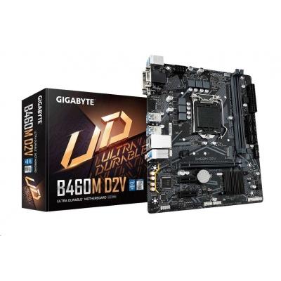 GIGABYTE MB Sc LGA1200 B460M D2V, Intel B460, 2xDDR4, VGA, mATX