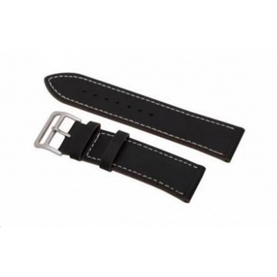 eses kožený řemínek černý pro samsung galaxy watch 42mm/gear sport/galaxy watch active/garmin vivoactive 3