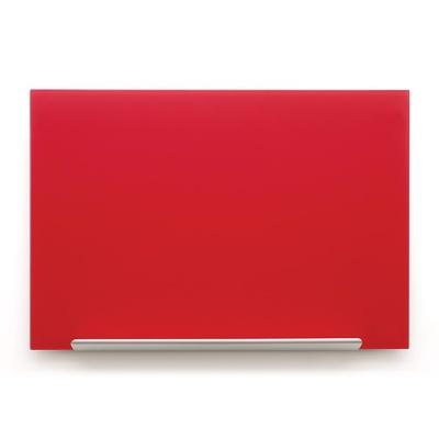 Skleněná tabule Diamond glass červená 67,7x38,1 cm