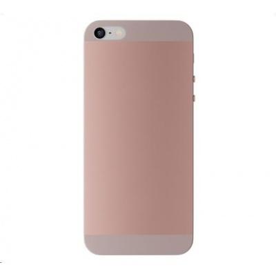 3mk ochranný kryt NaturalCase pro Apple iPhone 5, 5s, SE, transparentní růžovo-zlatá