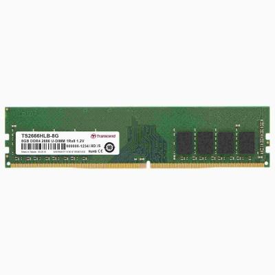 DIMM DDR4 8GB 2666MHz TRANSCEND 1Rx8 1Gx8 CL19 1.2V
