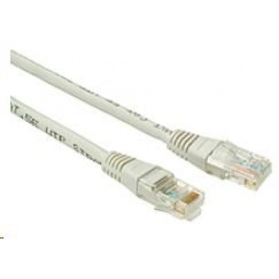 Solarix Patch kabel CAT6 UTP PVC 15m šedý non-snag-proof C6-155GY-15MB