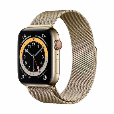 Apple Watch Series 6 GPS + Cellular, 40mm Gold Stainless Steel Case + Gold Milanese Loop