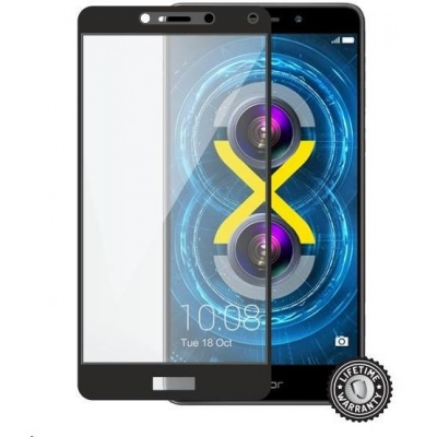 Screenshield ochrana displeje Tempered Glass pro HUAWEI Honor 6X full COVER metalic frame, černá
