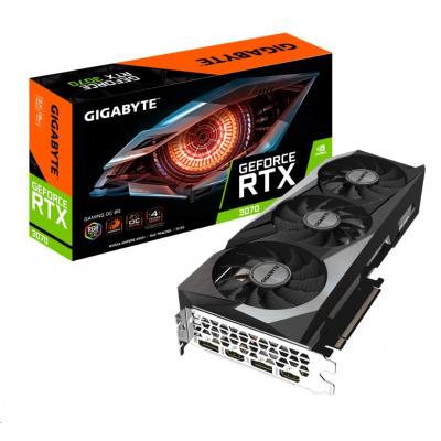 GIGABYTE VGA NVIDIA GeForce RTX 3070 GAMING OC 8G Rev. 2.0, RTX 3070 LHR, 8GB GDDR6, 2xDP, 2xHDMI