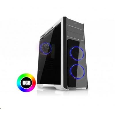 EVOLVEO skříň Ray 4R, 3x RGB rainbow ring ventilátor, průhledná bočnice