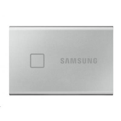 Samsung Externí SSD disk T7 touch - 500 GB - stříbrný