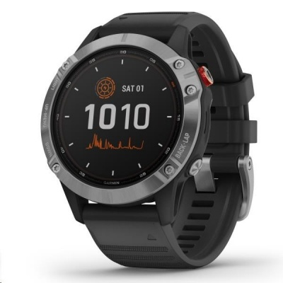 Garmin fenix6 Solar, Silver/Black Band