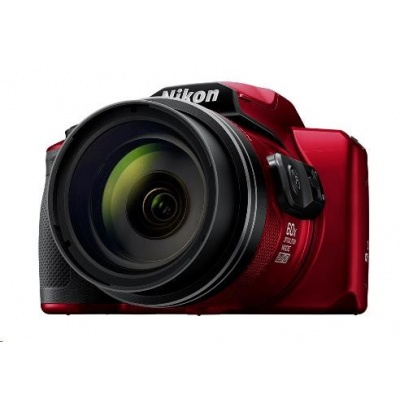 Nikon kompakt Coolpix B600, 16MPix, 60x zoom - červený