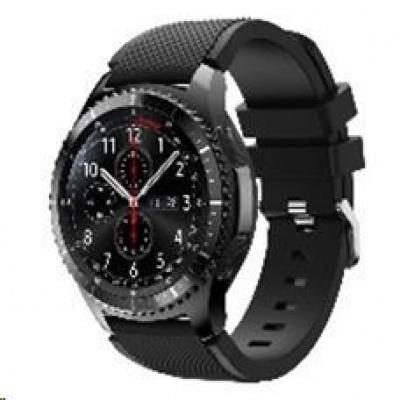 eses silikonový řemínek černý pro samsung galaxy watch 46mm/samsung gear s3