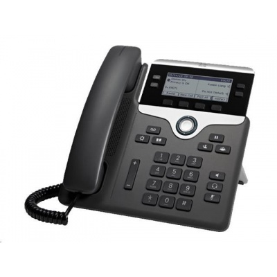 Cisco CP-7841-3PCC-K9=, VoIP telefon, 4line, 2x10/100/1000, displej, PoE - REFRESH