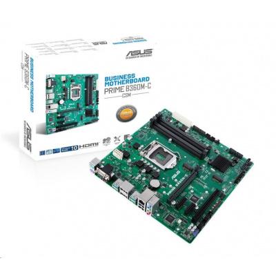 ASUS MB Sc LGA1151 PRIME B360M-C/CSM (SW + PUR RMA), Intel B360, 4xDDR4, 2xDP, 1xHDMI, 1xVGA, mATX