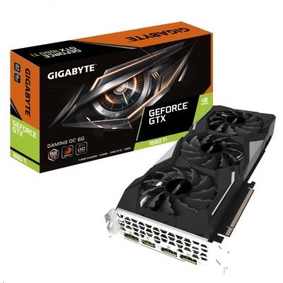 GIGABYTE VGA NVIDIA GeForce GTX 1660 Ti GAMING OC 6G, 6GB GDDR6, 1xHDMI, 3xDP