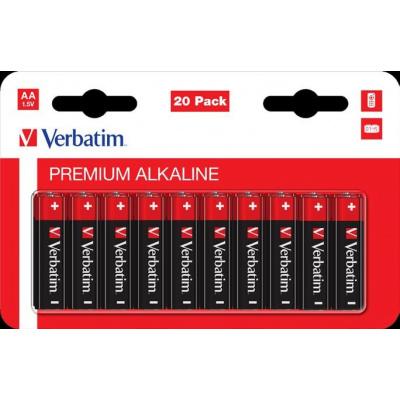 VERBATIM  AA  Alkalická Baterie 20 Pack / LR6