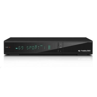 AB-COM CryptoBox 750HD (sat.prijímač, 1xčítačka, 1xCI slot, VFD displej, HDMI, SCART, USB, LAN, H.265)