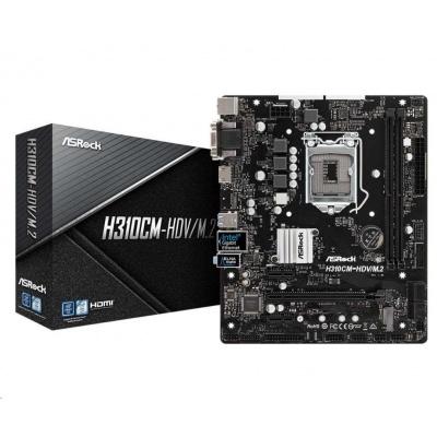 ASRock MB Sc LGA1151 H310CM-HDV/M.2, Intel H310, 2xDDR4, VGA, mATX