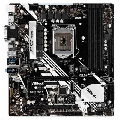 ASRock MB Sc LGA1151 B365M PRO4-F ,Intel B365, 4xDDR4, HDMI, DVI